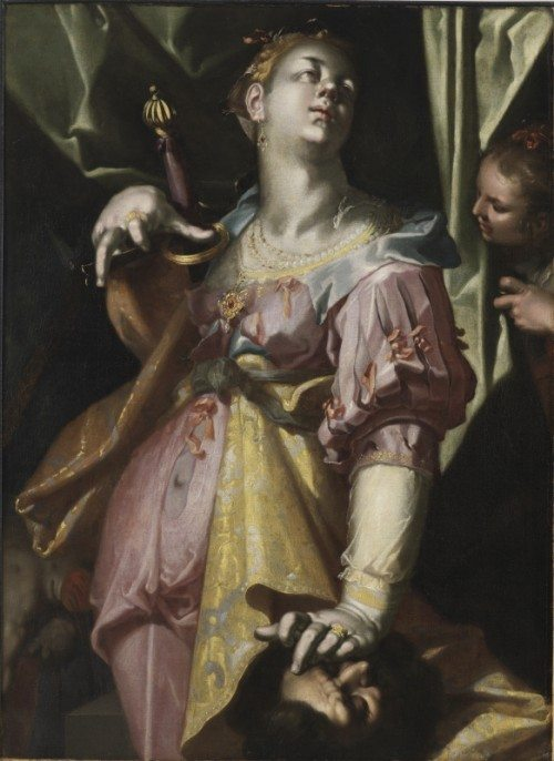 Joachim Wtewael, Judith and the Head of Holofernes, 1595-1600, Oil on canvas