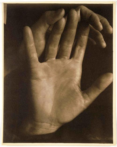 Paul Strand, Rebecca's Hands, New York, 1923, Palladium Print. IMAGE VIA MFA.ORG