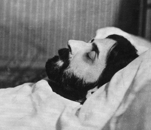 Marcel Proust on his Deathbed, Man Ray, Gelatin silver print, 1922