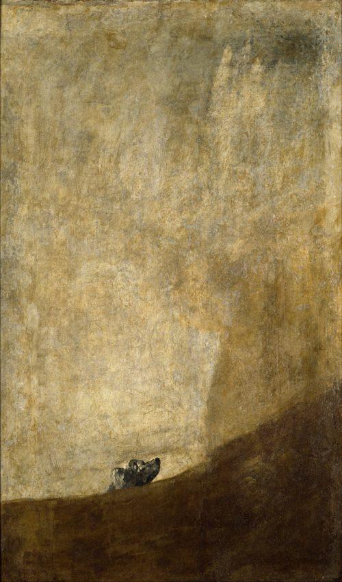 Francisco Goya, The Dog, 1819-23