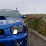 Subaru STI Fog Light cover stencil sticker