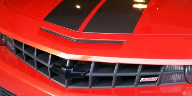 Camaro rally stripe installation