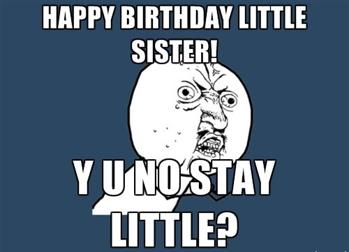 happy birthday meme sister images