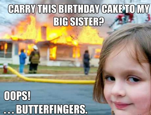 happy birthday sister meme gif