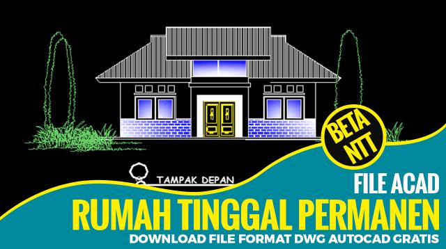 Download Desain Rumah 7x12M File Dwg AutoCAD Lengkap