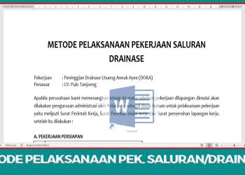 Download Dokumen Metode Pelaksanaan Pekerjaan Saluran/Drainase Beton