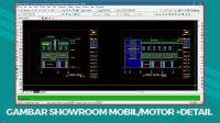 Download Gambar Showroom Mobil/Motor File DWG AutoCAD