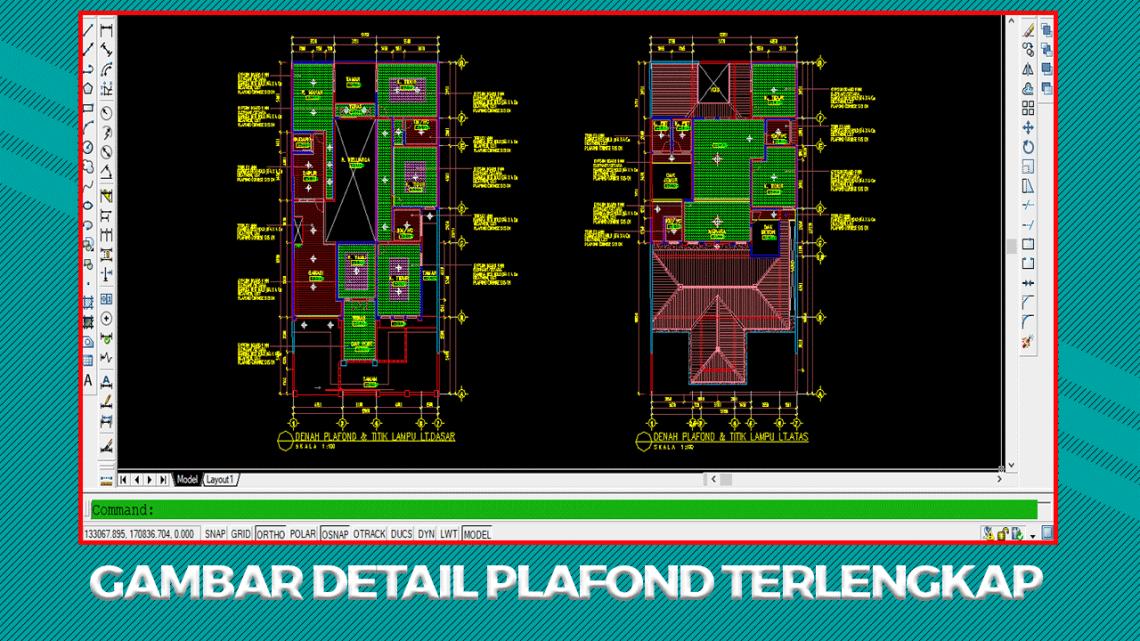 Gambar Detail Plafond Format File Autocad DWG