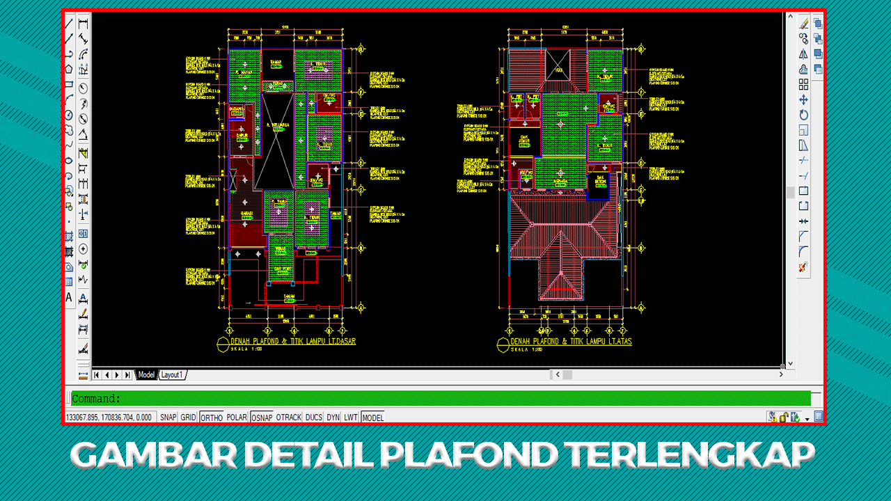 Gambar Detail Plafond Format File Autocad DWG