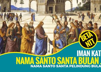 Nama Santo dan Santa Pelindung Gereja Katolik Bulan Juli