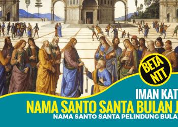 Nama Santo dan Santa Pelindung Gereja Katolik Bulan Juni