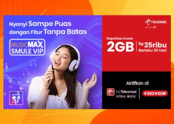 Cara Beli dan Aktivasi Paket MusicMAX Smule VIP Telkomsel