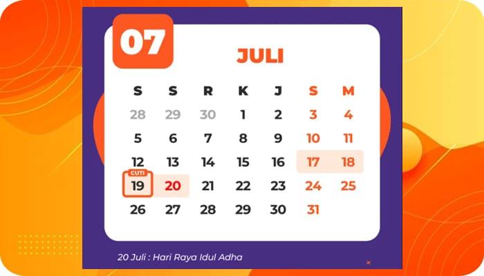 Kalender Libur Nasional dan Cuti Bersama 2021