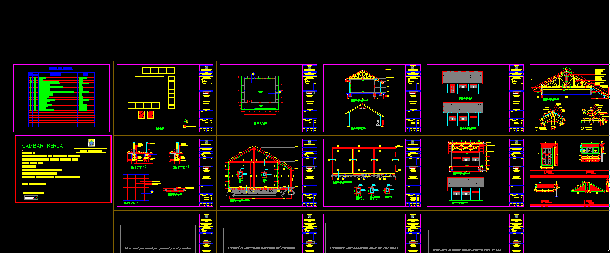 Download Bangunan Gedung SMP + Bestek Lengkap DWG AutoCAD