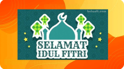 Kartu Ucapan Selamat Idul Fitri 1442 H .