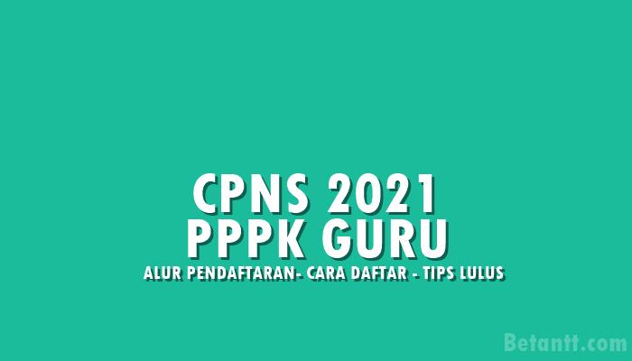Alur Sistem Seleksi CPNS 2021 untuk PPPK Guru