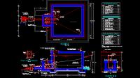 Download Gambar Tangki Air dan Reservoir Detail Lengkap DWG AutoCAD