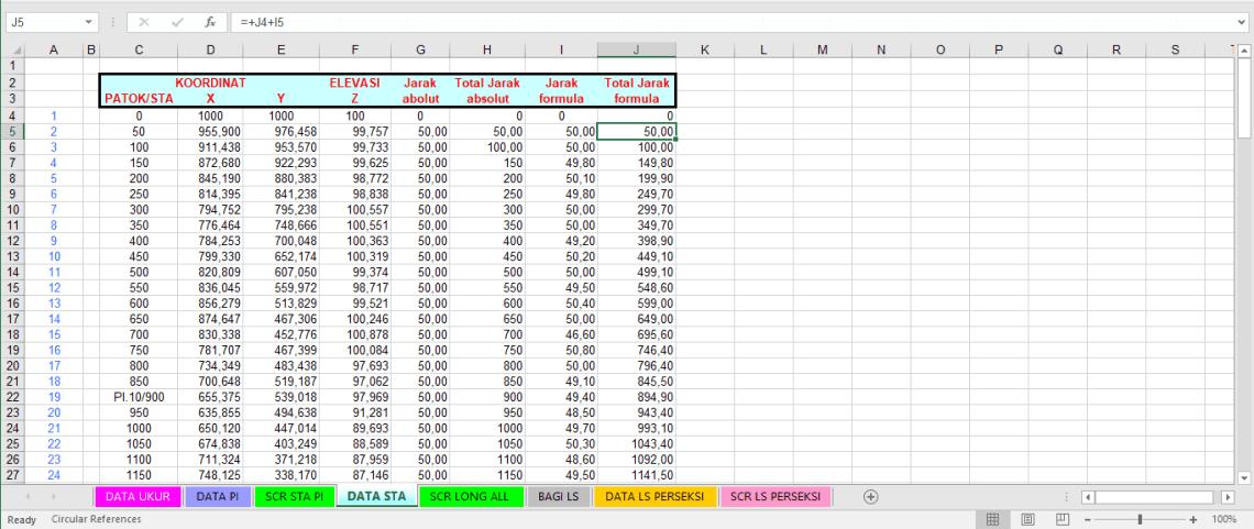 Download Master Script AutoCAD Long Section Jalan File Excel