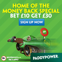 Paddy Power – £30 Free Bet