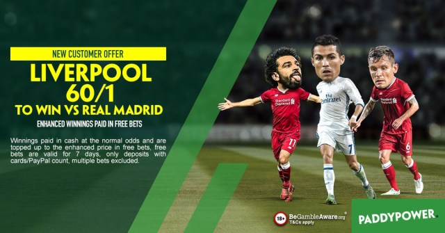 Paddy Power Champions League New Customers Offer