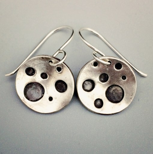 Sterling Silver Crater Earrings