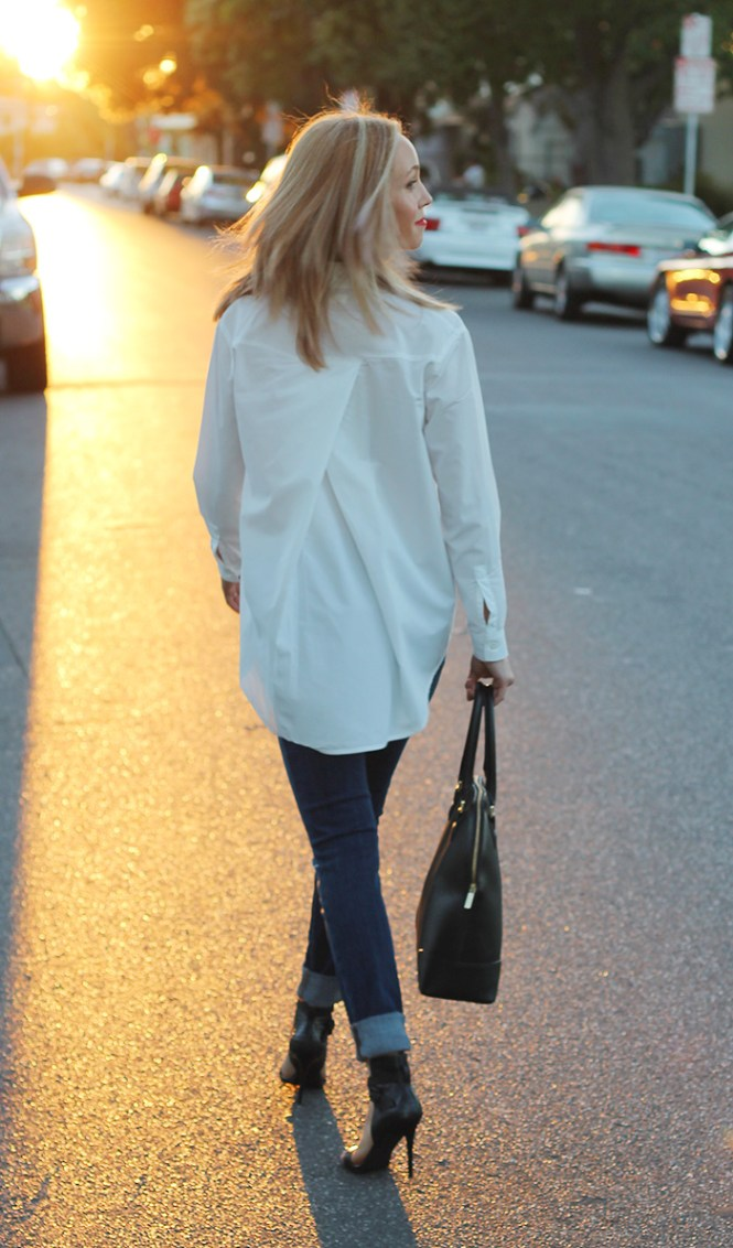 boyfriend shirt, oversized shirt, basics, basics with a twist,