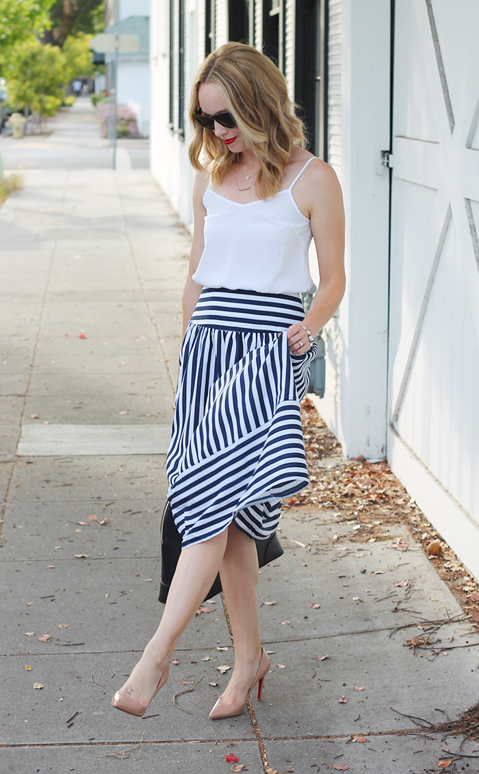 piperlime skirts, asos tank, white cami, summer outfit ideas