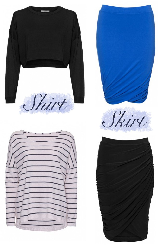 skirts, striped shirt, tops to wear with skirts