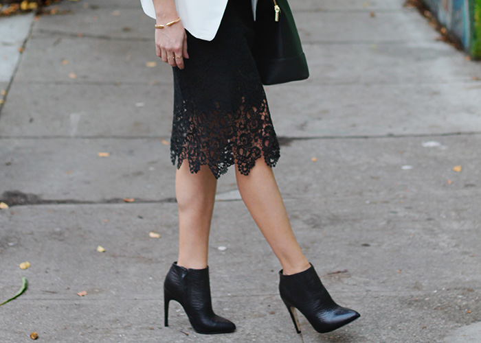 ankle boots with a pencil skirt