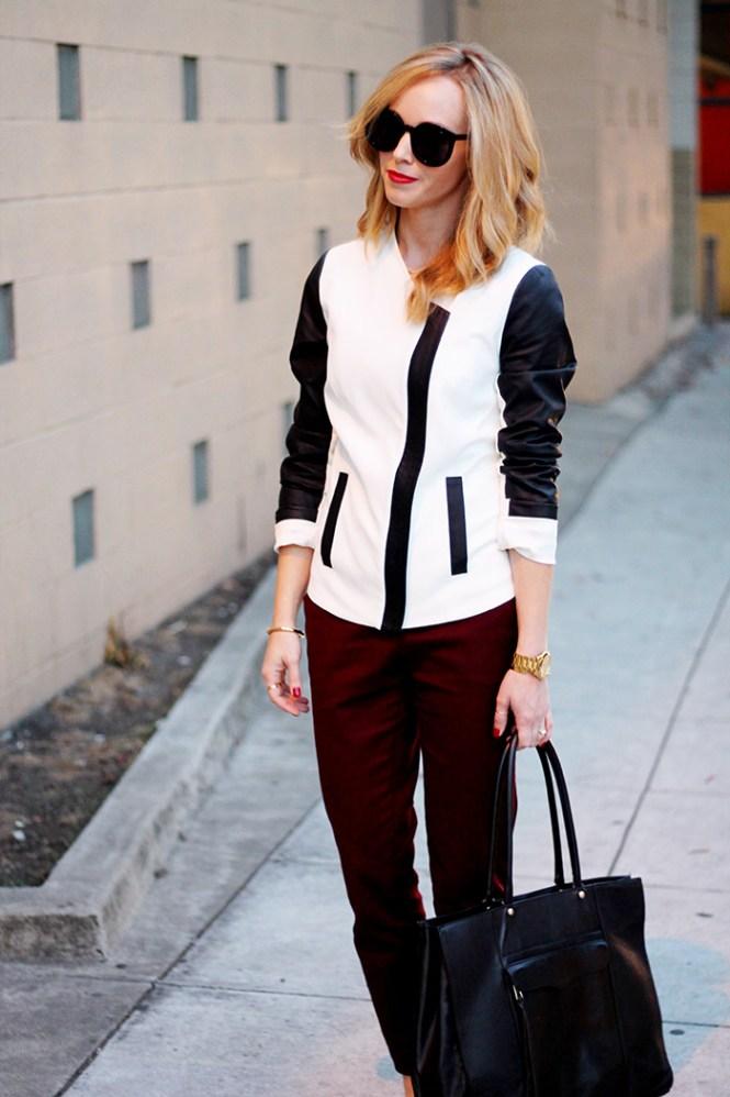 contrast blazer