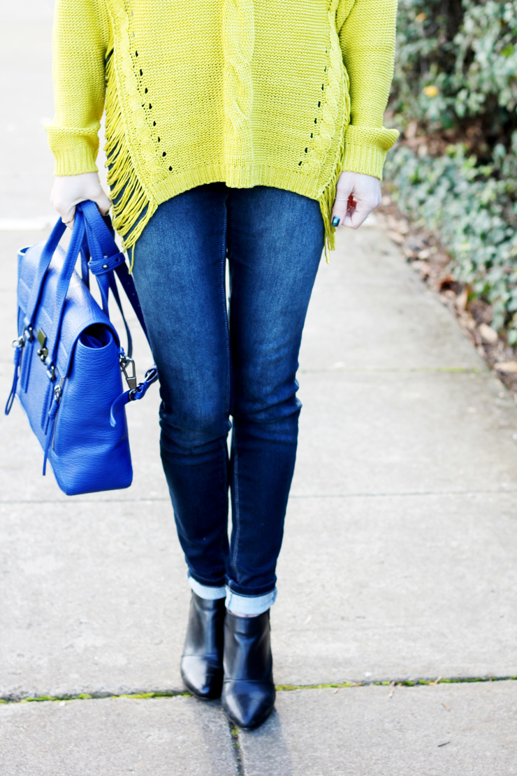 sweater, skinny jeans and booties