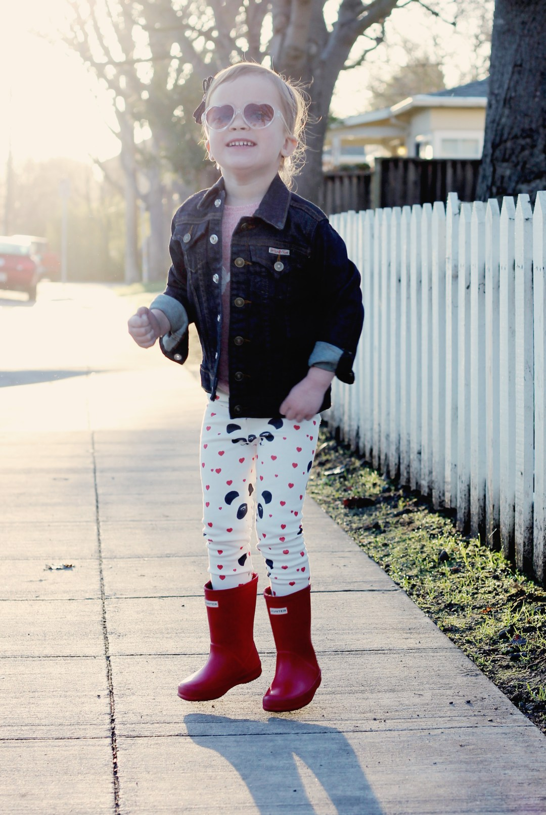 Toddler girl's v-day outfits