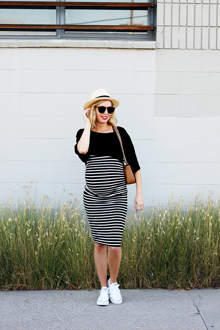 Parisian chic maternity dress the short bell sleeves on this crop top are my favorite goes to show that little detail can add a lot of interest surely this is french girl approved ombrellifo Images