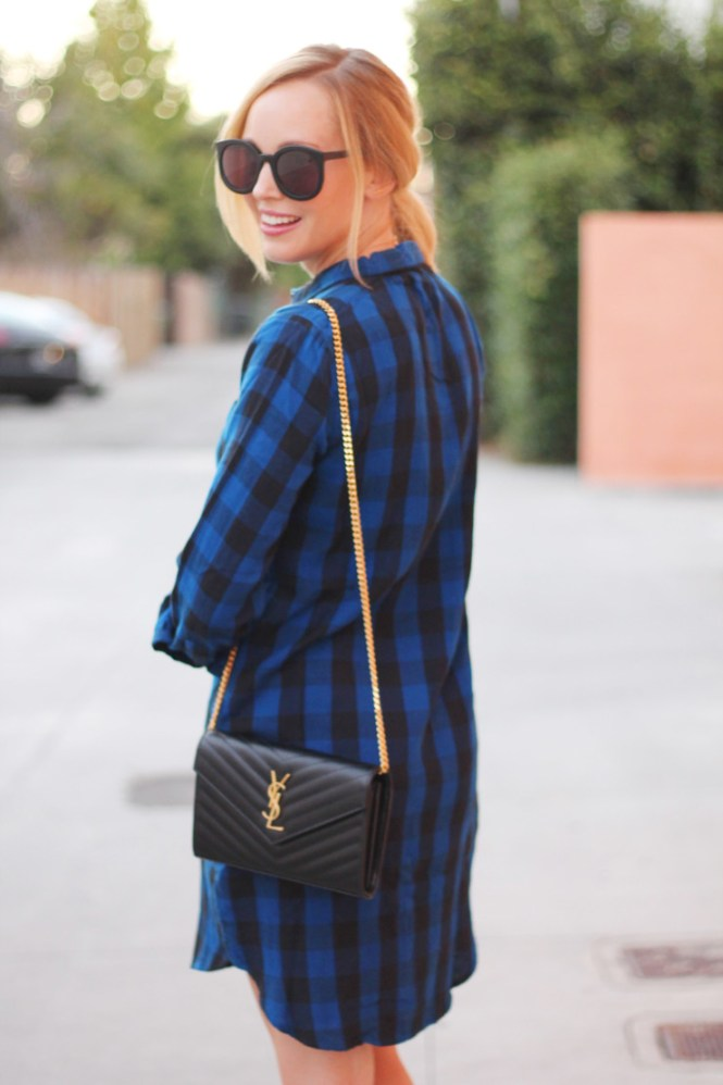 Shirtdress in Buffalo Check