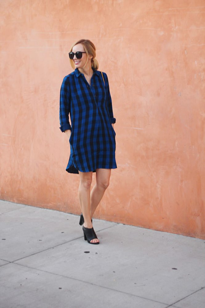 Latitude Shirtdress in Buffalo Check