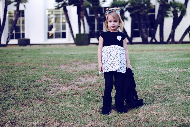 black and white dresses for girls