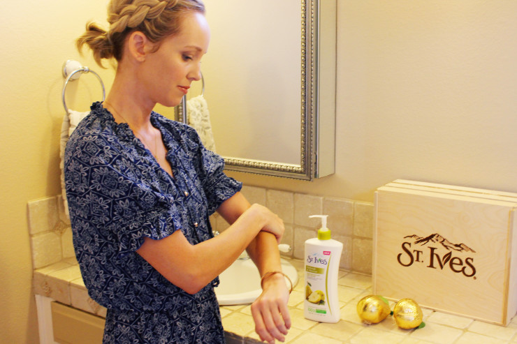 st Ives Pear Lotion and Body Wash