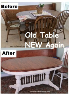 Before and After Table with Chalk Paint