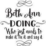 Beth Ann Doing Logo for new website