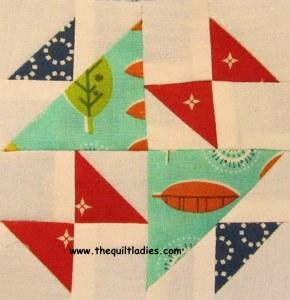 Hourglass quilt pattern block