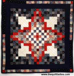 Red, white and Blue quilt from Book one of The Quilt Ladies Books