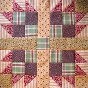 Sample quilt block from the book, 53 quilt pattern blocks