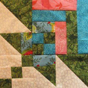 log cabin flower quilt block