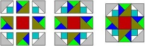 Sample Quilt Block pattern from One Quilt Block made Twelve Ways quilt book