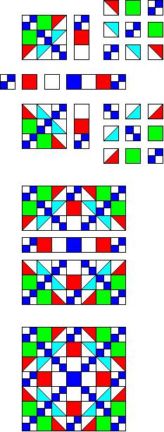 How to make Square and Square Quilt Block Pattern