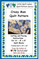 Sample quilt patter from Crazy Man Quilt Pattern Book