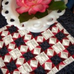 Small Red, White and Blue Star Quilt