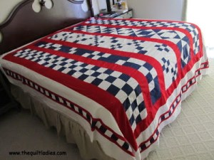 Simple Red, White and Blue Quilt