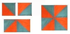 Orange and Blue Star Quilt Pattern