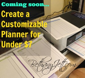 how to create a planner coming soon
